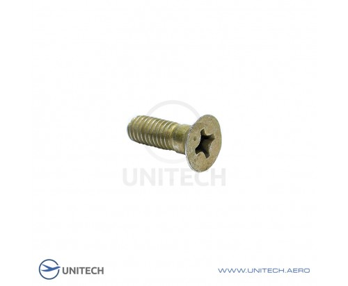 Cross-slotted flush screws <90˚