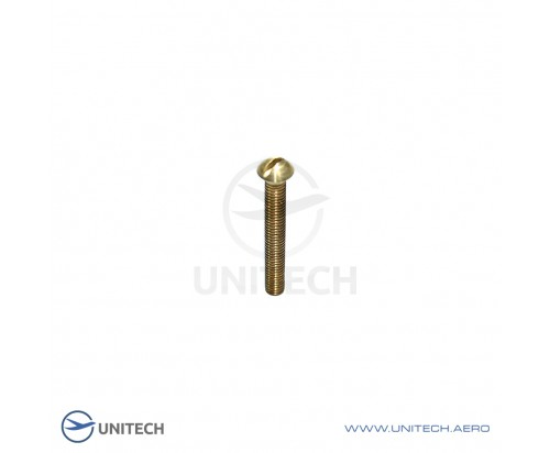 Slotted button-head screws